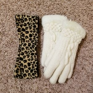 Old Navy Winter Band & Gloves